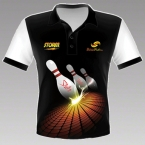 Bowlfun Polo Best Quallität STORM Strike Black No.S12EU17PM5