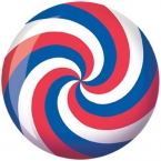 Viz-A-Ball Red White and Blue Spiral Bowlingball